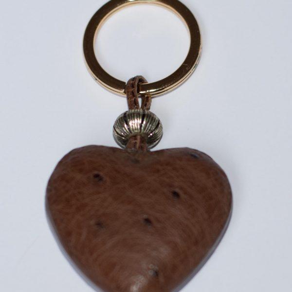 porte-clef coeur autruche